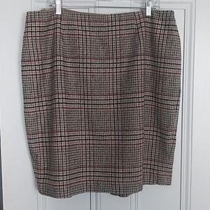 Talbots 18W petite wool skirt